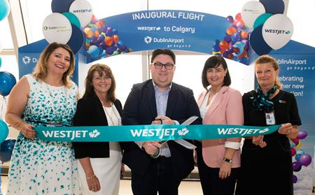 Inaugural WestJet Calgary flight launch